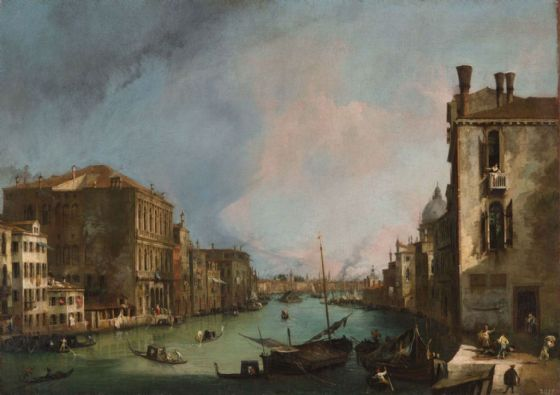 Canaletto, Giovanni Antonio Canal: The Grand Canal in Venice with the Palazzo Corner. Fine Art Print/Poster. Sizes: A4/A3/A2/A1 (003529)